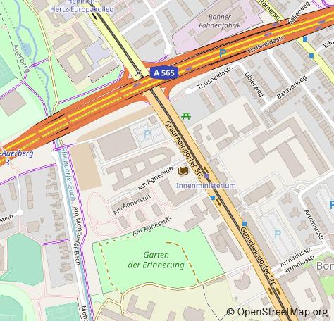 Karte von Bonn,Graurheindorfer Str. 151a von OpenStreetmap.org